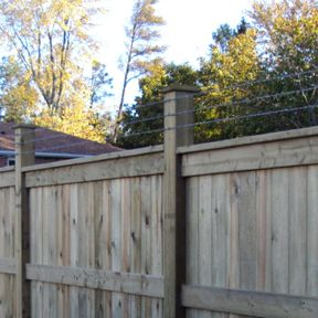 wooden fence and wire guards